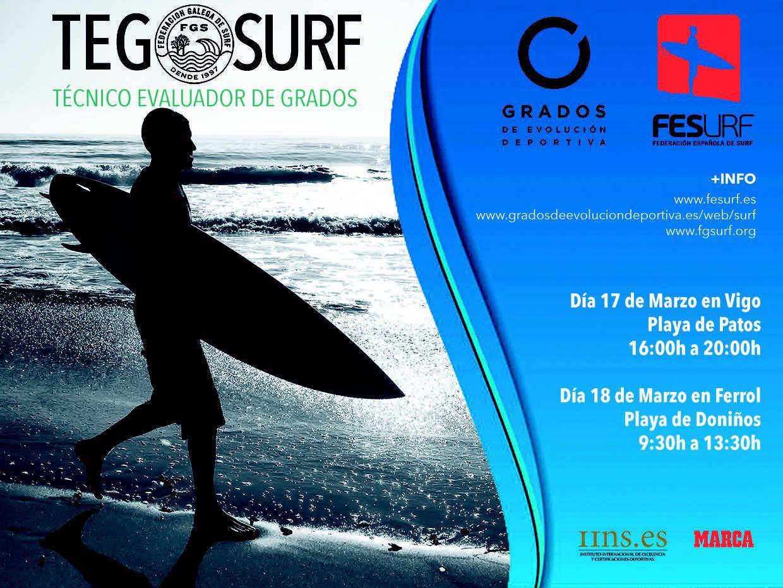 Atencion, nuevas fechas TEGs de surfing en Galicia