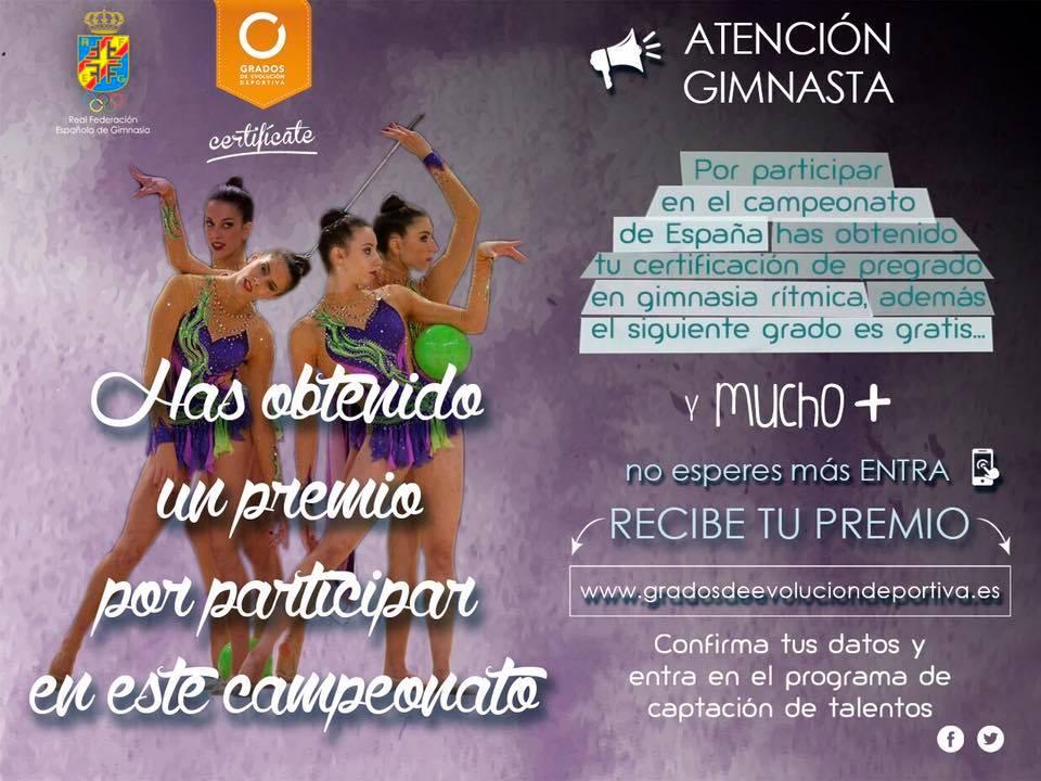 Atención gimnasta! Por participar en #GRGuadalajara has obtenido tu certificación de pregrado en GR!