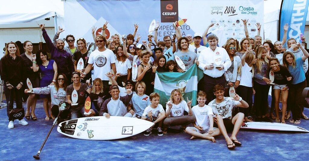 Nuestra directora general en Campeonato de España de Surfing