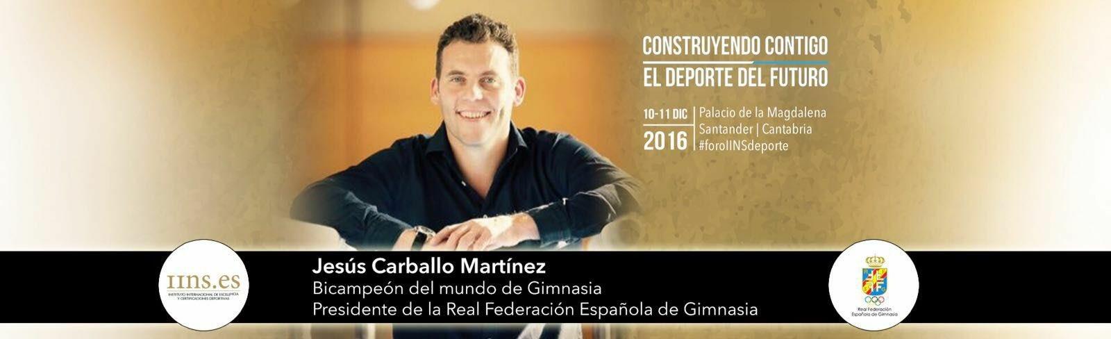 El bicampeón del mundo Jesús Carballo participará en el #foroIINSdeporte