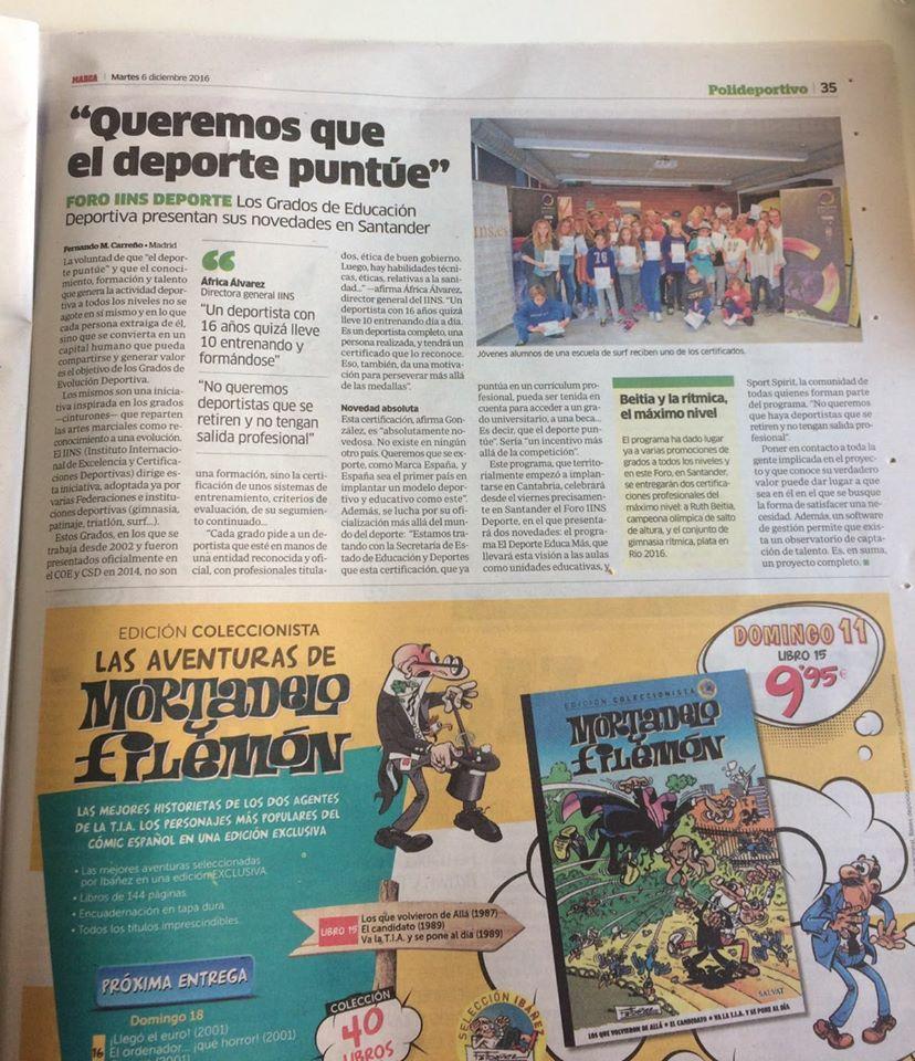 Los Grados de Educación Deportiva presentan sus novedades en Santander